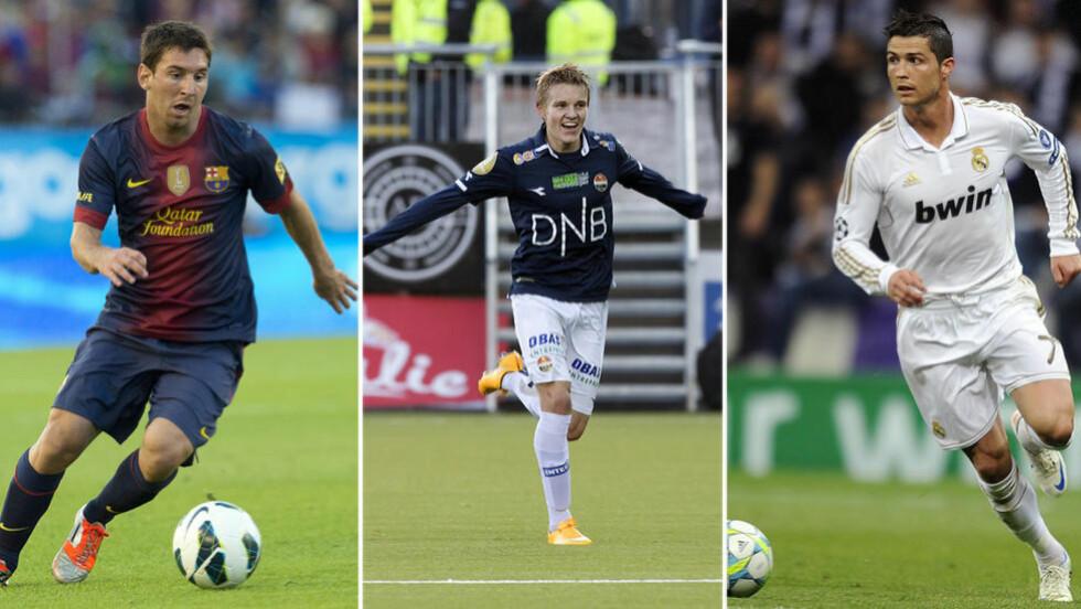SLITER: Morten P. mener det er vanskelig å se at Martin Ødegaard kan komme til å bli lagkamerat med Lionel Messi eller Cristiano Ronaldo i januar. Foto: NTB Scanpix