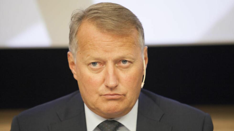 KLARTE SEG BRA: DNB-sjef Rune Bjerke kan være fornøyd med DNBs innsats i EUs stresstest der 25 banker strøk.Foto: Torstein Bøe / NTB Scanpix