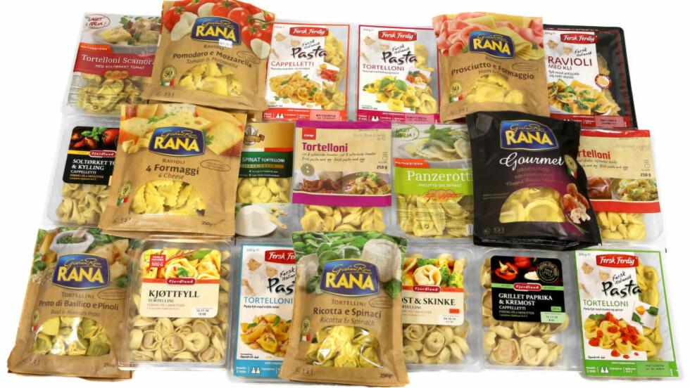 TILBEHØRET TELLER: Mange av de fylte pastarettene er ikke spesielt sunne. Men velger du grønnsaker og annet sunt tilbehør, kan de være en grei middag. Foto: Erik Helgeneset