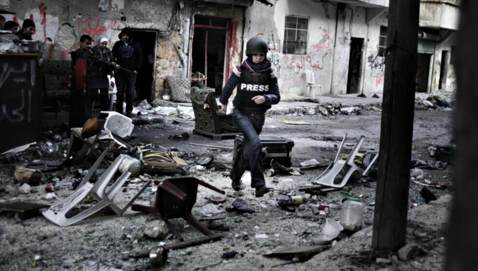 VITNE: Francesca Borri i Syria. Foto: Alessio Romenzi