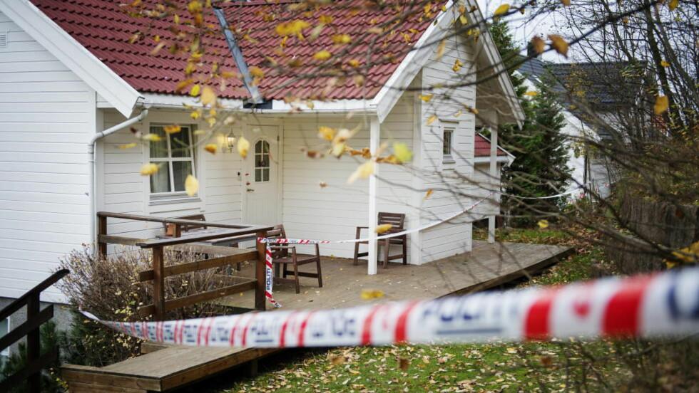 DREPT: En 30 år gammel kvinne døde av skadene hun ble påført mens hun var på jobb på denne institusjonen for barn og unge i Asker i natt. En 15 år gammel jente er siktet for drap. Foto: Benjamin A. Ward / Dagbladet