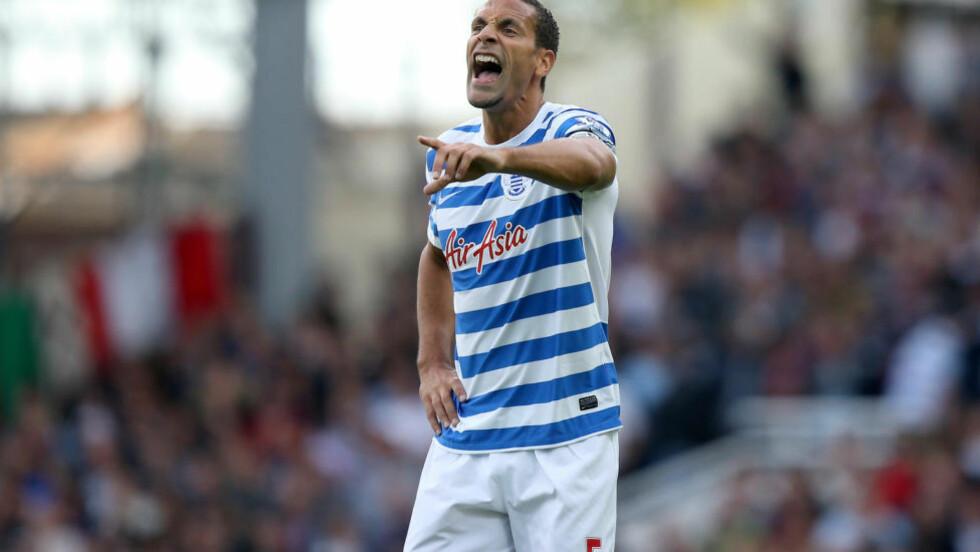 KARANTENE: Queens Park Rangers-spiller Rio Ferdinand må sone tre kamper etter ufint språk på internett. Foto: AP Photo/John Walton,