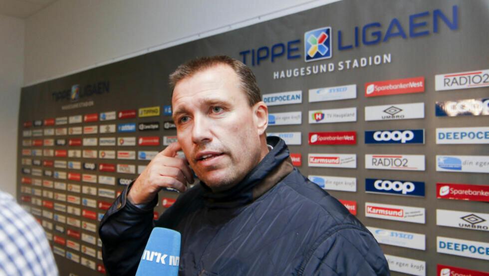 I NEDRYKKSSTRIDEN: Tom Nordlie kjemper for å holde Sandnes Ulf i Tippeligaen, men sier ikke nei til et tilbud fra Rosenborg. Foto: Jan Kåre Ness / NTB Scanpix