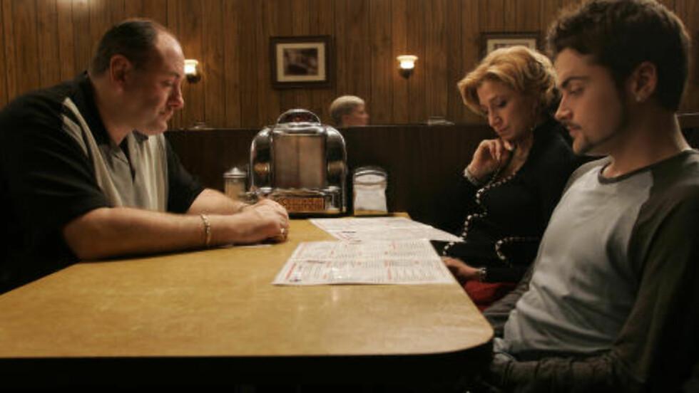 KONTROVERSIELL: Slutten på «The Sopranos» er både ansett for å være et høydepunkt og et lavmål i tv-historien. FOTO: PROMO