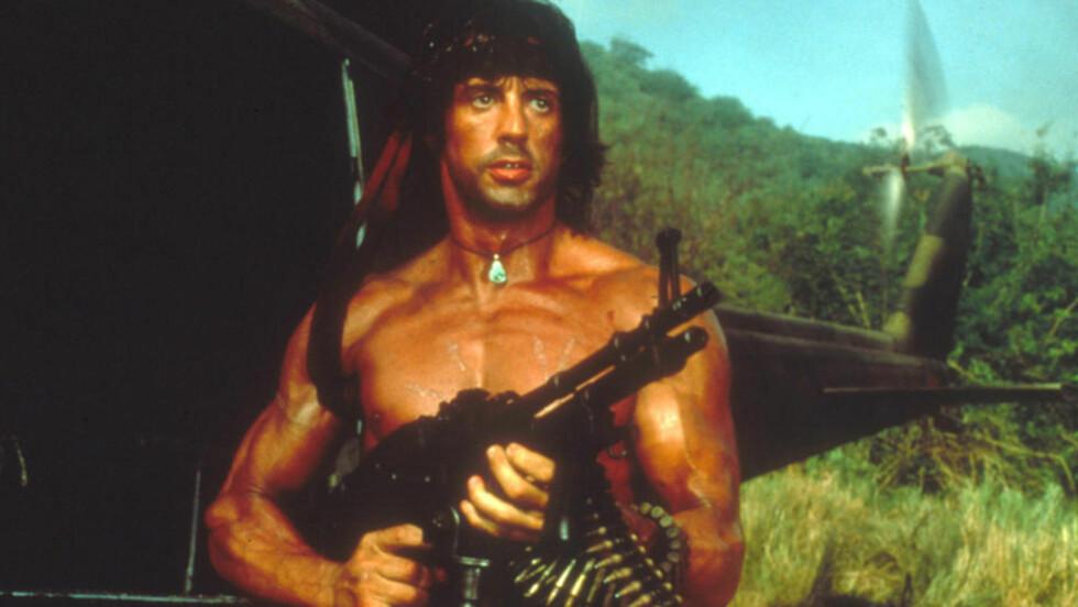 FRA GLANSDAGENE: Den muskuløse og kompromissløse John Rambo, i Sylvester Stallones skikkelse, kan være på vei tilbake til lerretet. FOTO: PROMO