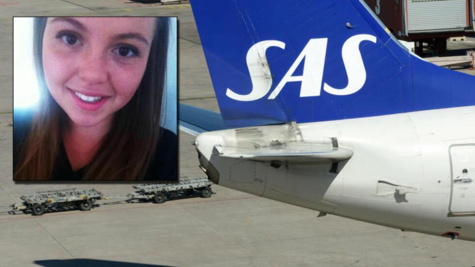 TAR EPISODEN MED ET SMIL: 20-årige Amanda måtte ta ut og skru av vibratoren foran alle medpassasjerene. Nå ser hun humoristisk på hendelsen. Foto: Privat, NTB Scanpix