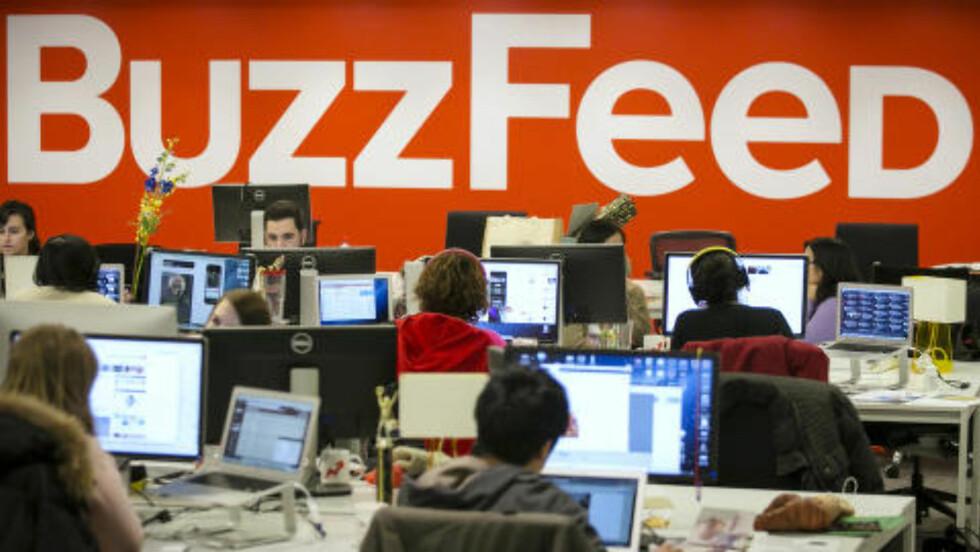 NY TANKEGANG: Hele 75 prosent av trafikken inn til nettstedet Buzzfeed kommer fra sosiale medier. Foto: NTB Scanpix