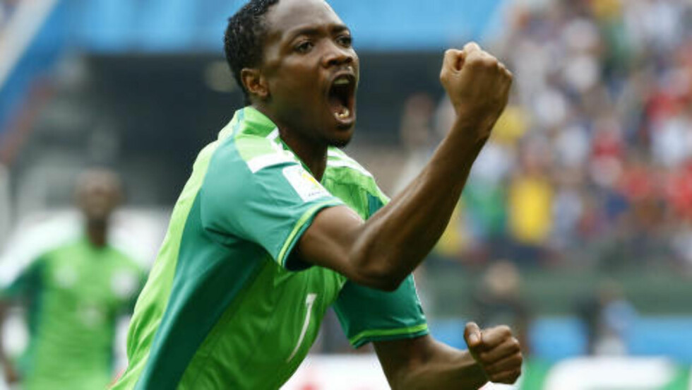 MUSEVISA: Nigerianerne kommer trolig til å lage nye sanger om Ahmed Musa etter scoringene mot Argentina. Kanskje Alf Prøysen kan bidra? Foto: Stefano Rellandini / Reuters / NTB Scanpix