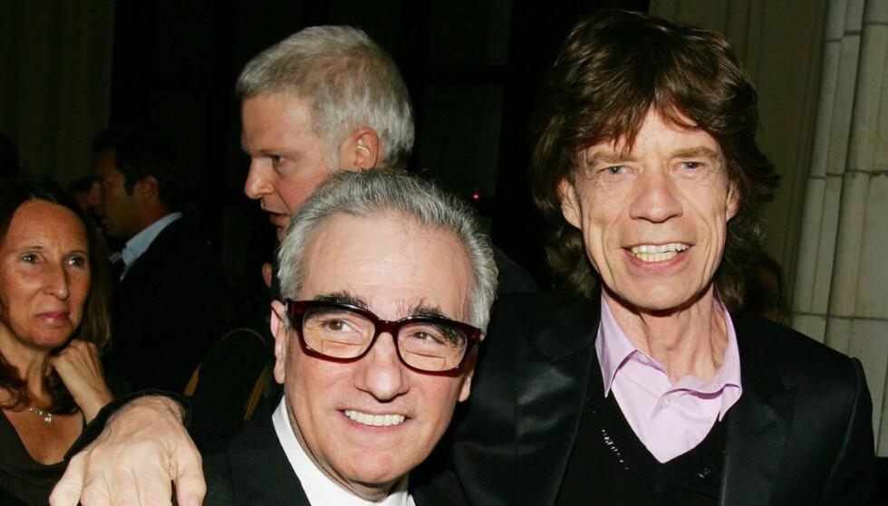 GOD TONE: Martin Scorsese har tidligere laget dokumentar om Rolling Stones. Nå skal han i gang med et tv-serieprosjekt sammen med Mick Jagger. Foto: Evan Agostini/Getty Images/AFP