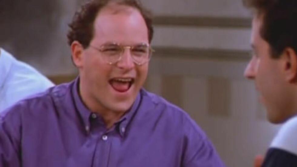 STARTEN: En usedvanlig munter George diskuterer damer med Jerry i den aller første scena fra «Seinfeld» i 1989.