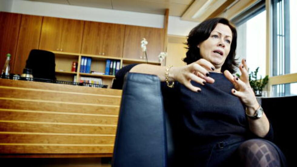 VIL IKKE KOMMENTERE: Statsråden med ansvar for diskrimineringsloven, barne- og familieminister, Solveig Horne (Frp) ønsker ikke å kommentere Guttogjente.nos svar til homofil ungdom.  Foto: Nina Hansen / Dagbladet.