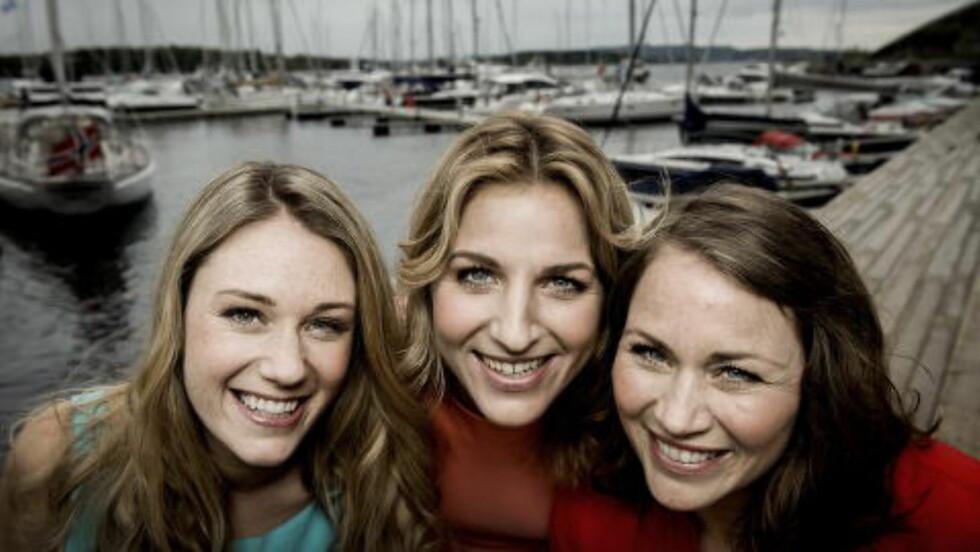 Oslo 20140515 Nye Sommertid programledere. Fra v: Ida Fladen, Guri Solberg og Gunhild Dahlberg. På Aker brygge. Foto: John T. Pedersen /Dagbladet