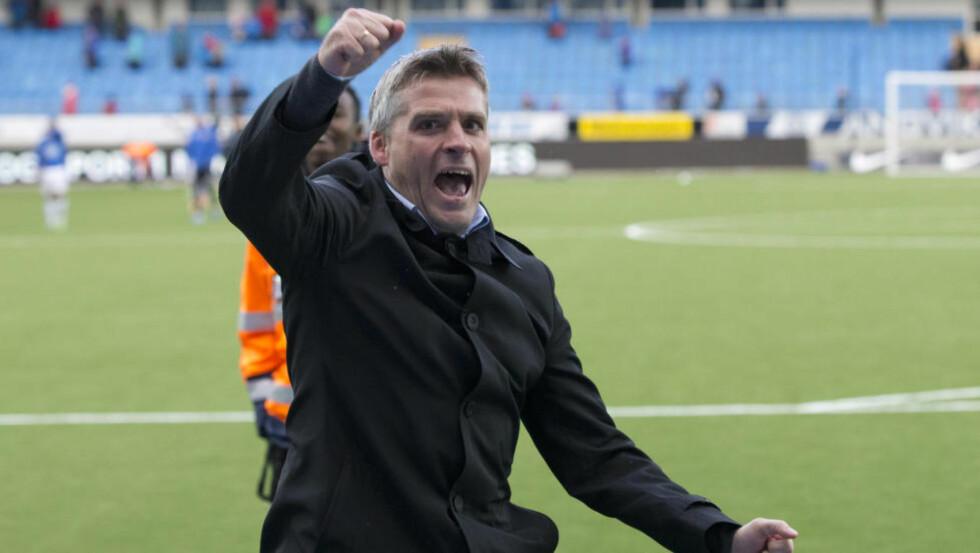 VINNERSPORET:  Tor Ole Skullerud og Molde leder serien og er klare for kvartfinale mot Viking i cupen. Foto: Svein Ove Ekornesvåg / NTB scanpix