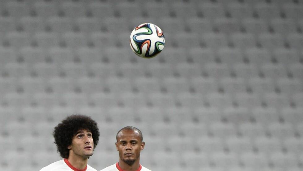 TO SOM ER VIDERE: Både England og italia røk ut av gruppespillet i Brasil, men spillerne fra deres respektive ligaer leverer i VM.Foto: AFP PHOTO/ MARTIN BUREAU/ NTB Scanpix