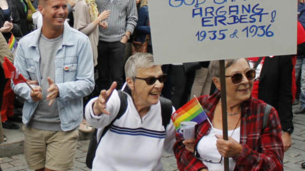 GLADE: Politiker Eskil Pedersen og aktivist Karen-Christine Friele. Foto: Miriam Bakkejord / Dagbladet