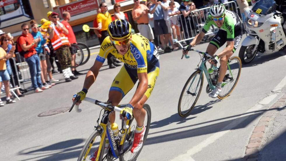 MISTENKELIGE BLODVERDIER:  UCI mener Roman Kreuzigers blodverdier fra 2011 og 2012 minner om doping. Kreuziger har i samråd med arbeidsgiveren Tinkoff-Saxo derfor bestemt seg for å stå over Tour de France. Foto: Tim De Waele/TDWSport.com