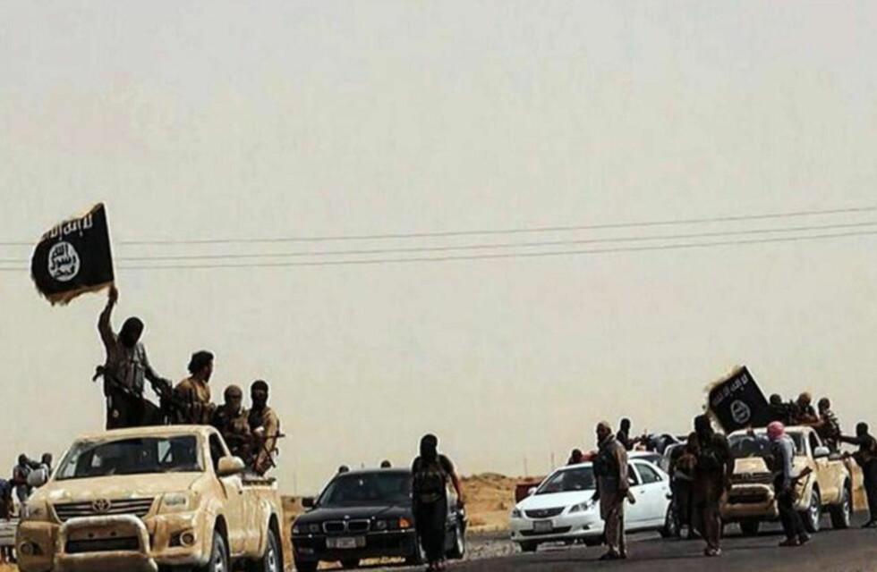 VERDENS RIKESTE OPPRØRGRUPPE:  ISIL har vokst fra en gjeng rufsete væpnede islamister til å bli en av verdens rikeste opprørsgrupper. Dette bildet fra jihadist-siden Welayat Salahuddin hevder å vise ISIL-islamister i provinsen Saladin, som blant annet huser de viktige byene Tikrit og Baiji. I dag gjorde ISIL krav på denne provinsen til sin nye stat Den islamske staten. Foto: Welayat Salahuddin / AFP Photo / NTB Scanpix