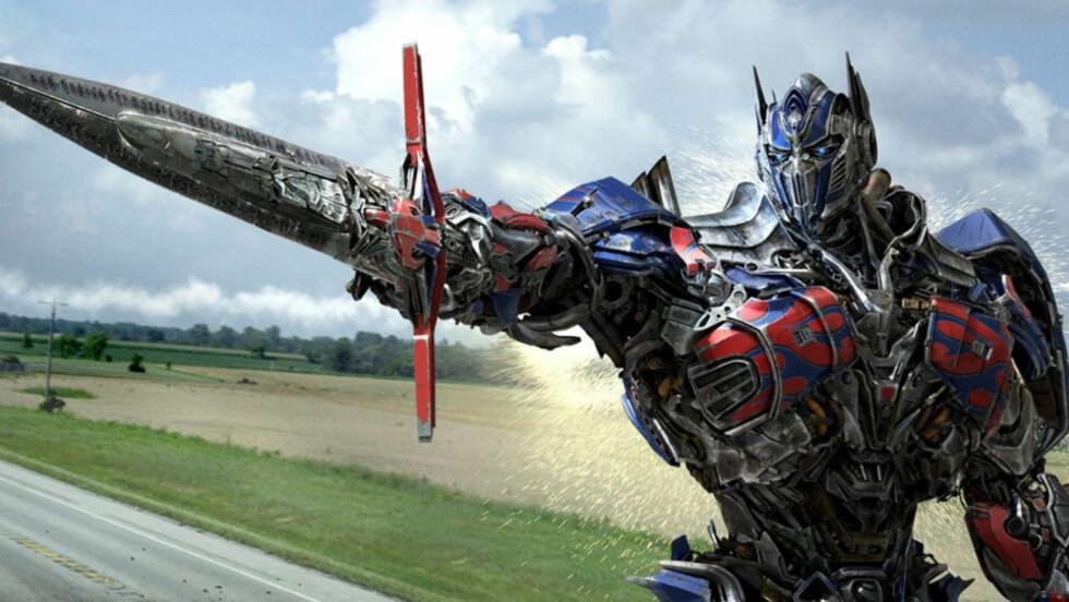 GIGANTSUKSESS: «Transformers: Age of Extinction» har gjort det svært godt i premierehelgen over store deler av verden. Når filmen kommer til Norge vil trolig ikke tallene bli like gode, da den etter all sannsynlighet ikke vil bli satt opp av Oslo kino. FOTO: PROMO