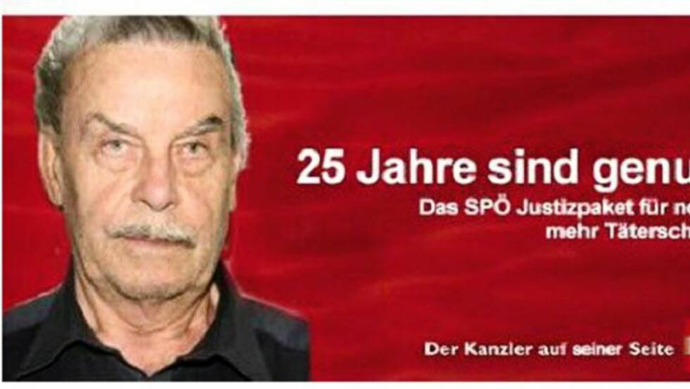 ANNONSEN som satte sinnene i kok: For denne falske annonsen i en østerriksk avis, får Josef Fritzls barn nå en erstatning på 40 000 kroner på deling.  (Screenshot)