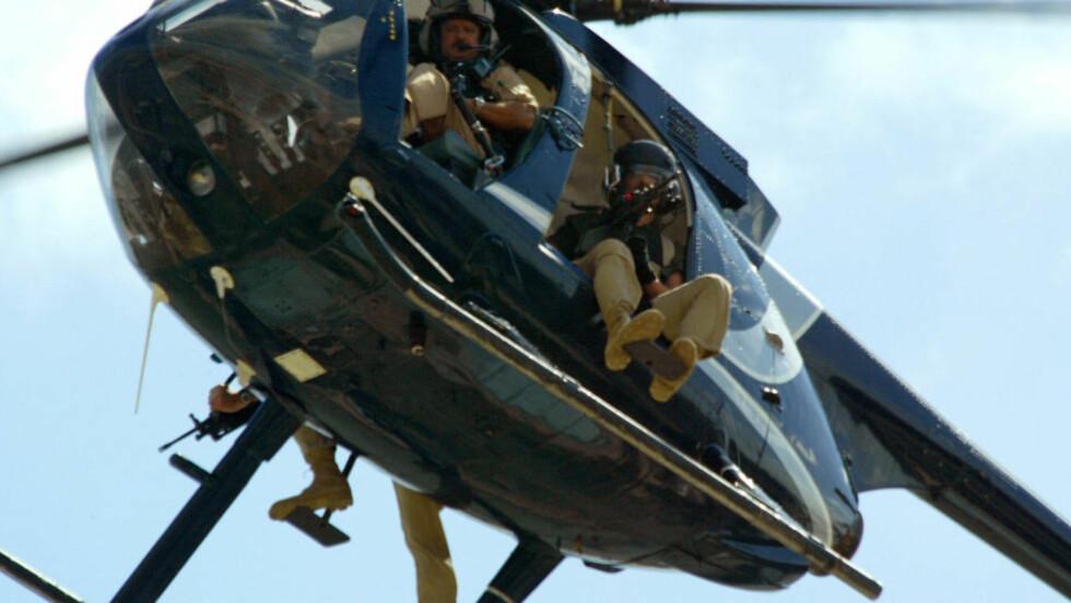 LEIESOLDATER: Leiesoldater fra Blackwater fotografert på oppdrag i 2007. Arkivfoto: AFP / Patrick BAZ / NTB scanpix