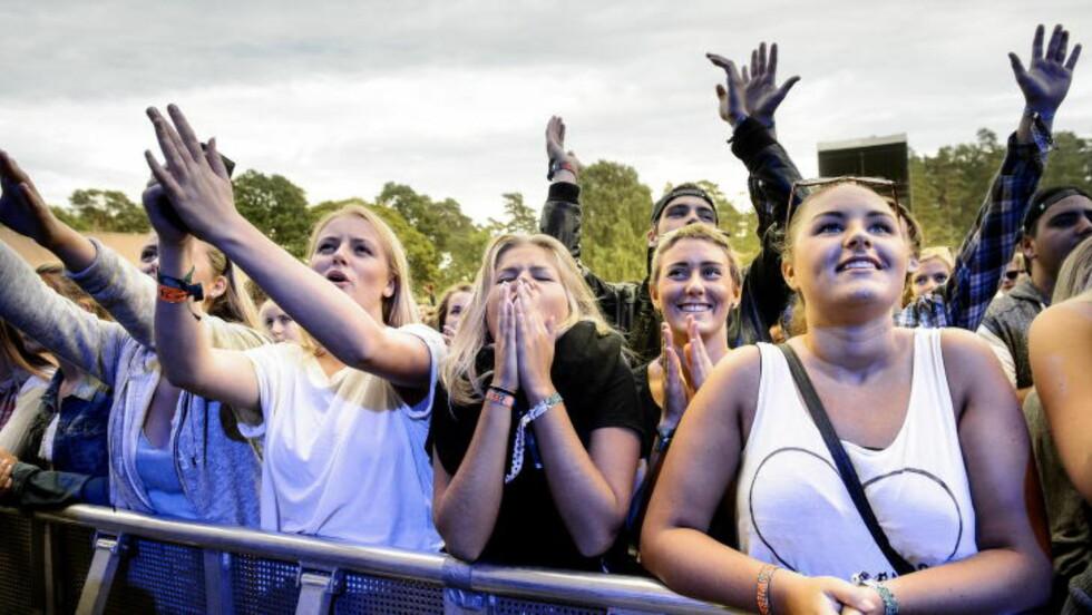 HEIA PUBLIKUM!  Det var publikum som gjorde Clean Bandit-konserten til en ålreit opplevelse. Foto: John T. Pedersen / Dagbladet