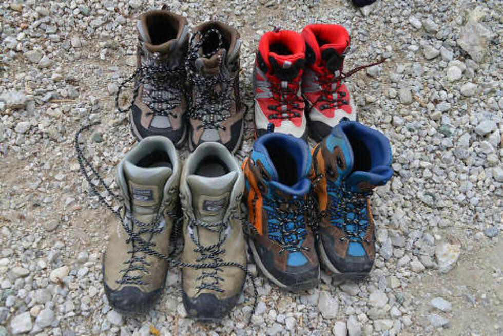 GODT SKODD: Pakk gode sko og varme klær til toppturen. For selv om det er 20 grader ved start, dupper gradestokken under 0 om natta. Foto: RONNY FRIMANN OG TORILD MOLAND