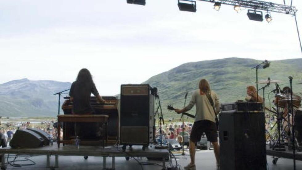 Festival til fjells: Vinjerock i Jotunheimen kombinerer beliggenhet og musikk.   Foto: Kjell Erik Berg
