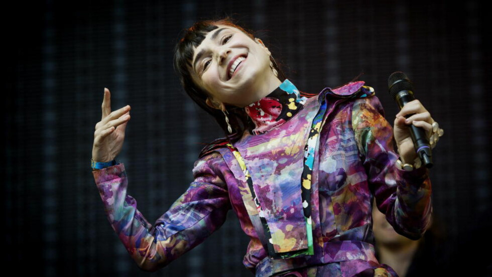 FIN: Shortskjolen til Laleh var noe av det beste med hele konserten.  Foto: John T. Pedersen / Dagbladet