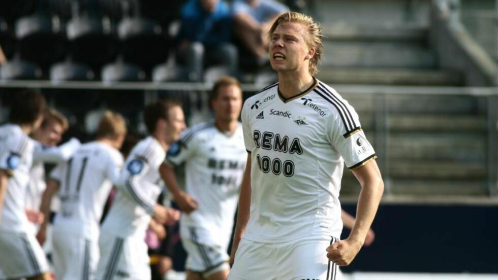 TO MÅL: Alexander Søderlund var i form og scoret to mål for RBK i kvaliken til Europa League.  Foto: Tor Erik Schrøder / NTB scanpix
