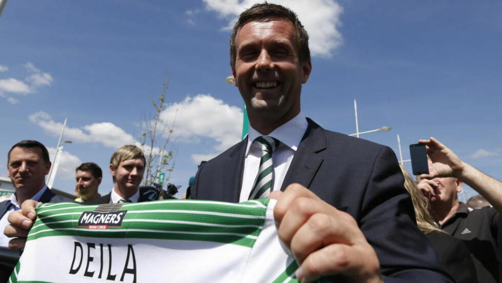 KAN GLISE: Ronny Deila ledet Celtic i sin første treningskamp i kveld og så laget vinne 3-1 mot Krasnodar fra Russland. Kampen ble spilt i Østerrike. Foto: REUTERS/RussellCheyne