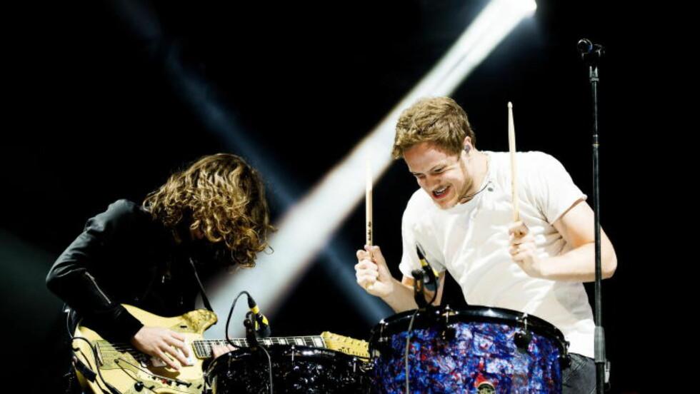 Er det et rockeband - eler medlemmer av STOMP? Foto: John T. Pedersen / Dagbladet