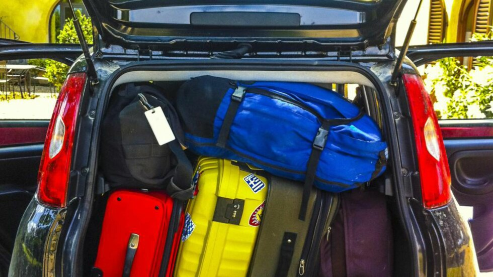 PLASS: En av de viktigste grunnene for mange til å velge bilferie, er rett og slett god plass til bagasje.  Foto: ALL OVER PRESS