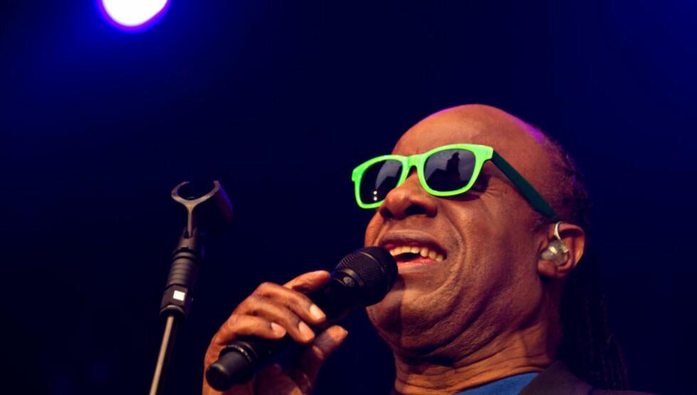 STJERNA PÅ KONGSBERG: Stevie Wonder på årets jazzfestival lørdag kveld foran 10.000 publikummere. Foto: Bjørn-Owe Holmberg / Dagbladet