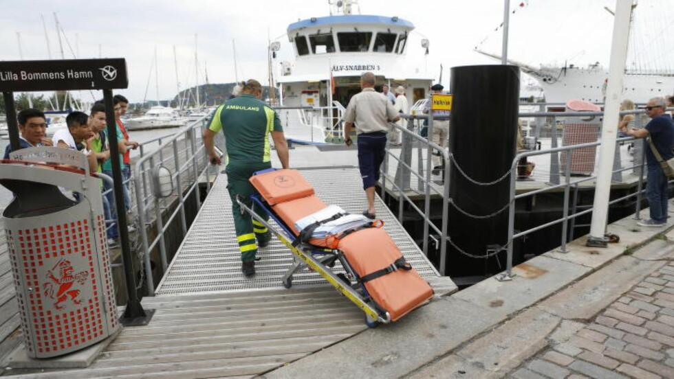 FLERE SKADET: Ti personer skal ha blitt skadet i ulykka. Foto: Jan Wiriden / GT