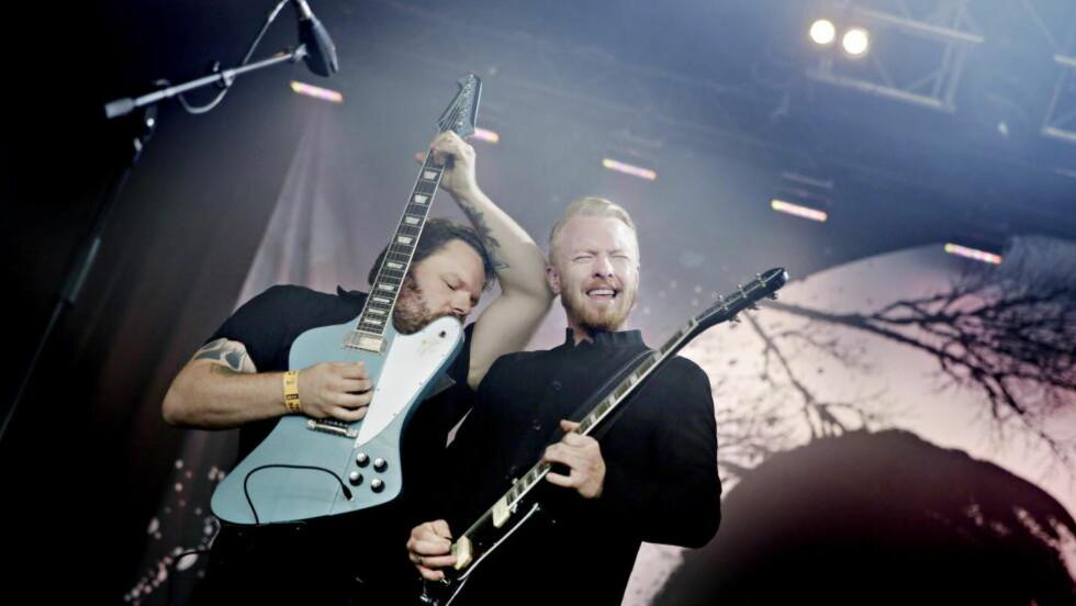 GITARKAMERATER:Hans Egil Løe (t.v) og Terje Winterstøe Røthing har hørt sin Thin Lizzy. Foto: Kristian Ridder-Nielsen / Dagbladet.