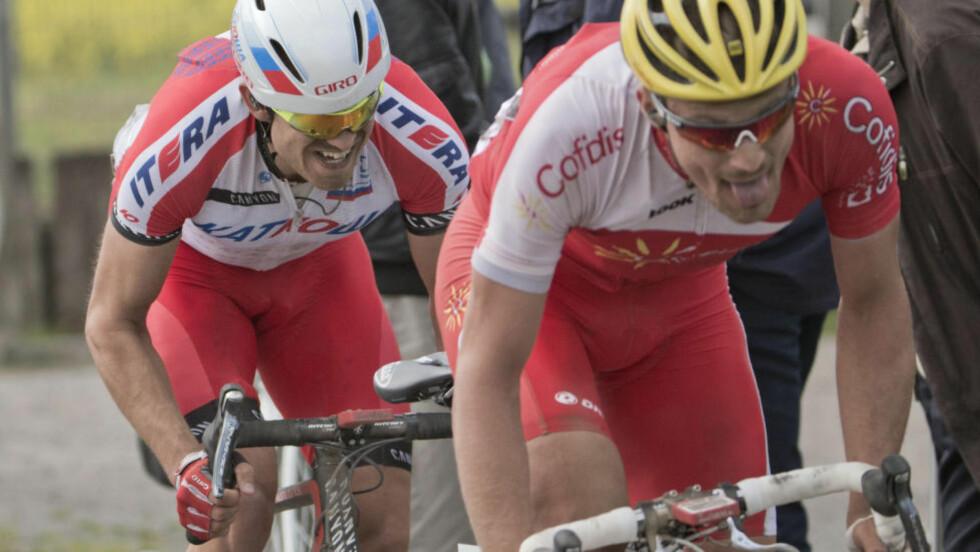 EN KRIG:  Dagens etappe i Tour de France, som går over flere brosteinspartier, kommer til å bli en skikkelig krig. En krig der Alexander Kristoff er blant de største favorittene. Foto: Daniel Sannum Lauten / NTB scanpix