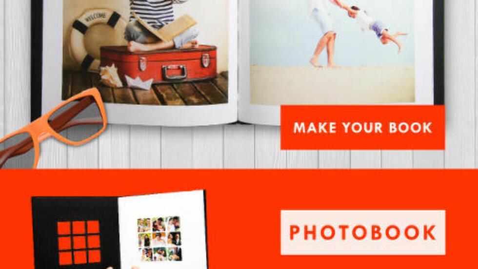 VELG UTSKRIFTSTYPE: Du kan få både vanlige utskrifter, fotobøker og kalendere hos Printic. Foto: KIRSTI ØSTVANG / DINSIDE.NO
