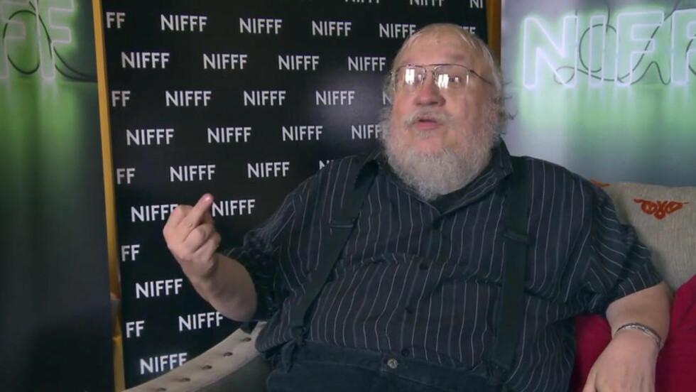 - FUCK YOU: «Game of Thrones»-forfatteren George R. R. Martin gir fingeren til dem som tror han vil gå bort før han rekker å skrive ferdig den populære fantasy-sagaen.