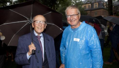 SOLIDE MENN: Kåre Willoch og Fabian Stang