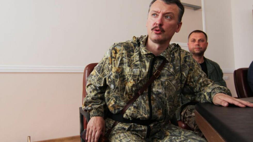 SKYTTEREN: Igor Strelkov er hans nome de guerre. Strelkov kommer fra strelok, som betyr skytteren.  EPA/PHOTOMIG Scanpix