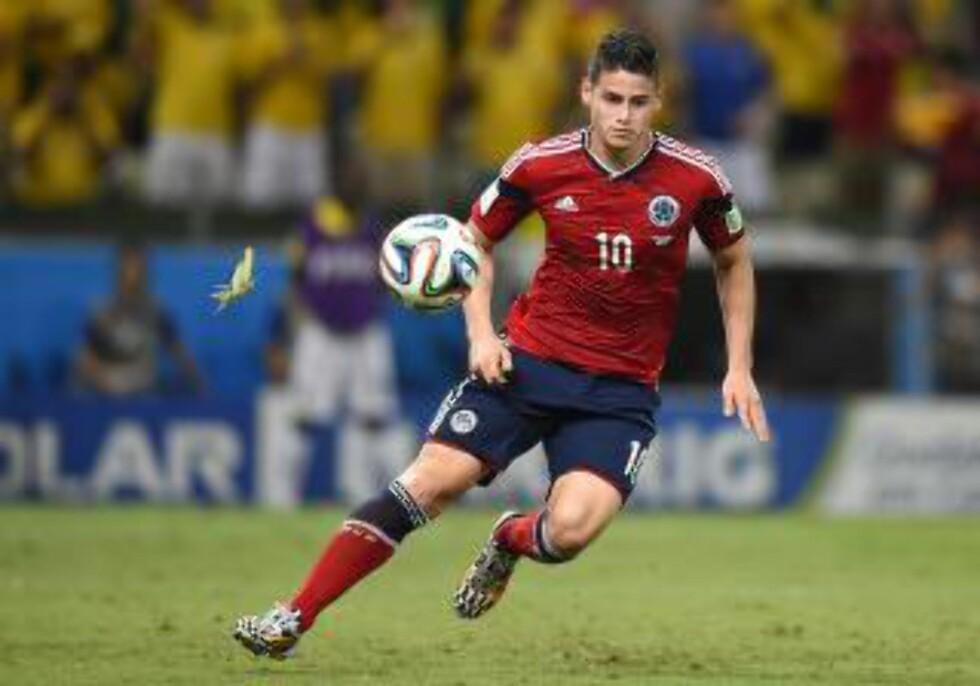 UAKTUELL: James Rodriguez går ikke til Liverpool, ifølge Karlsen.        AFP PHOTO / FABRICE COFFRINI