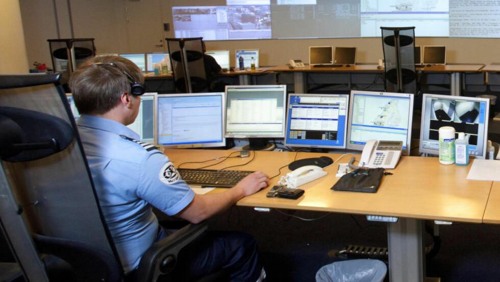 ALARMSYSTEM:  Nokas er et sikkerhetskonsern som blant annet leverer alarmanlegg. Dette bildet er tatt i 2011, da Dagbladet var på besøk hos Nokas i Tønsberg, hvor de har det de selv omtaler som en av Europas mest moderne alarmstasjoner. Foto: Torbjørn Berg / Dagbladet