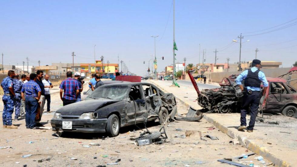 ALVORLIG SITUASJON: Flere ble drept og skadd da en bombe gikk av i Kirkuk i Nord-Irak i går. Nå advarer analytikere om at landet kan være på vei mot full oppløsning, tre år etter at amerikanerne forlot landet. Foto: EPA / NTB Scanpix