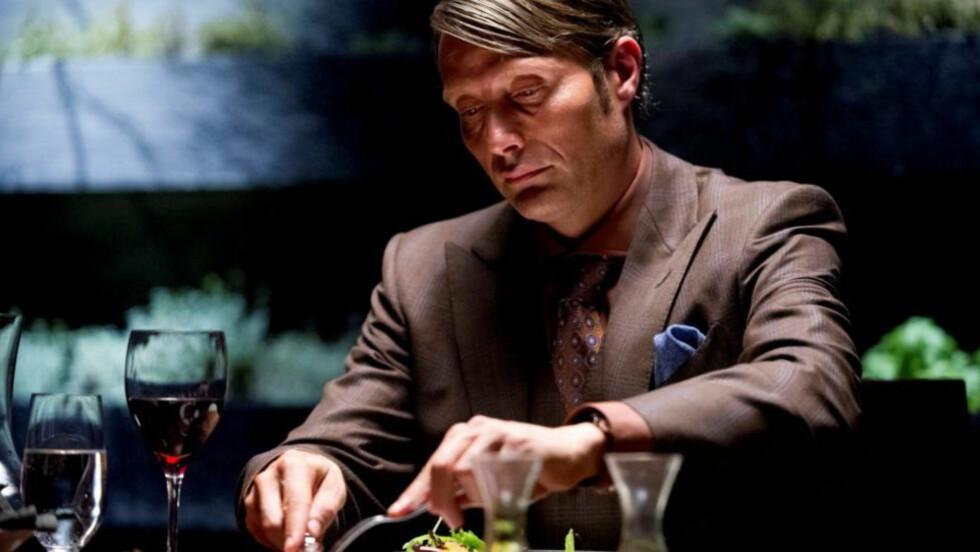 IGNORERT: Mads Mikkelsen og «Hannibal» er noe av det mest sofistikerte som vises på tv, men blir oversett av Emmy-juryen. Foto: NBC