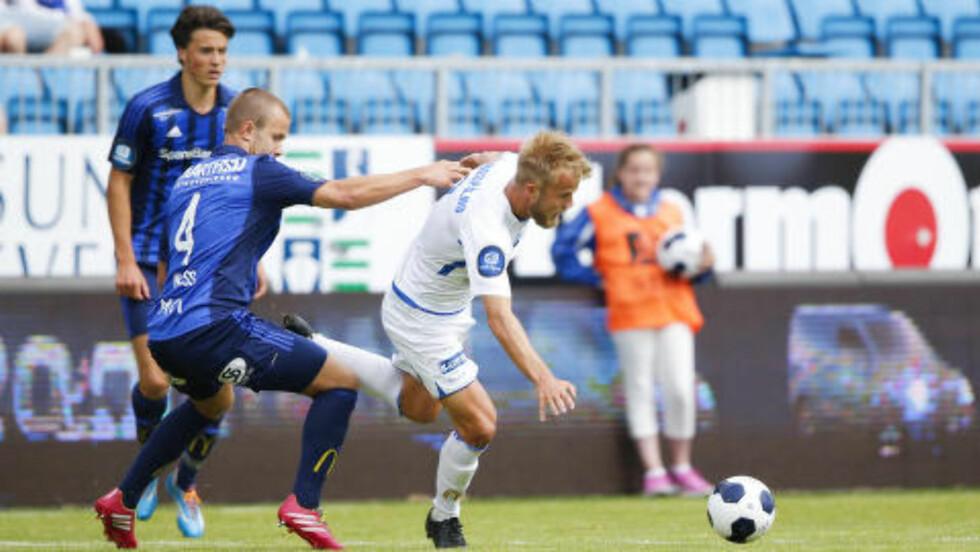VANT: FK Haugesund og Christian Gytkjær tok tre poeng hjemme mot Stabæk. Foto: Jan Kåre Ness / NTB scanpix
