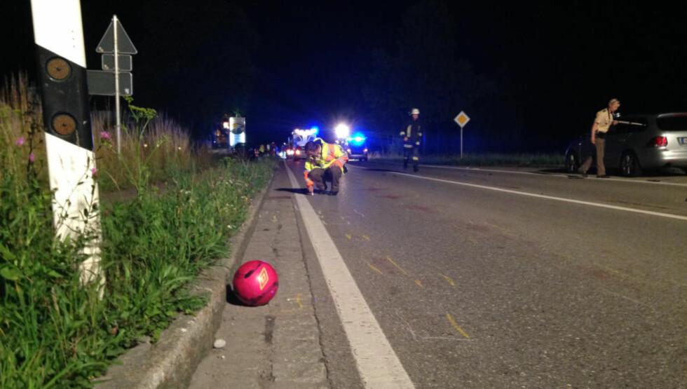 - SKULLE HENTE BALL: Den norske gutten skal ha blitt påkjørt da han løp ut i bilveien for å hente ballen sin. Foto: RICHARD RÄDLER / DPA