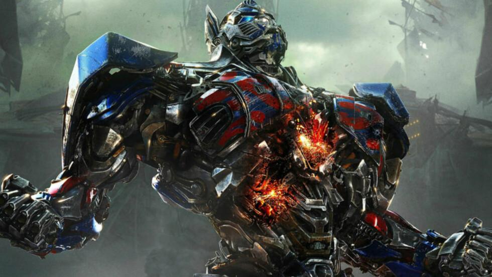 GJØR DET STERKT: Optimus Prime og de andre robotene i «Transformers: Age of Extinction» trekker rekordmye publikum til kinosalene, selv om kritikerne slakter filmen. Foto: Paramount/di Bonaventura Pictures