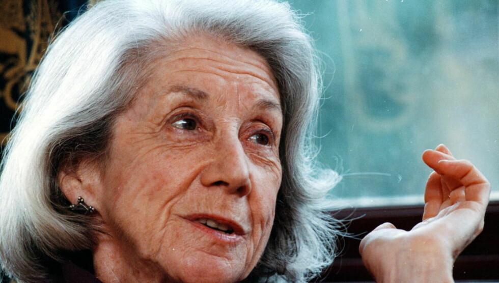GÅTT BORT: Forfatteren og Nobel-prisvinner Nadine Gordimer er død. Her er hun i Stavanger for å delta på Litteraturfestivalen i 1998. Foto: Erling Slyngstad-Hægeland