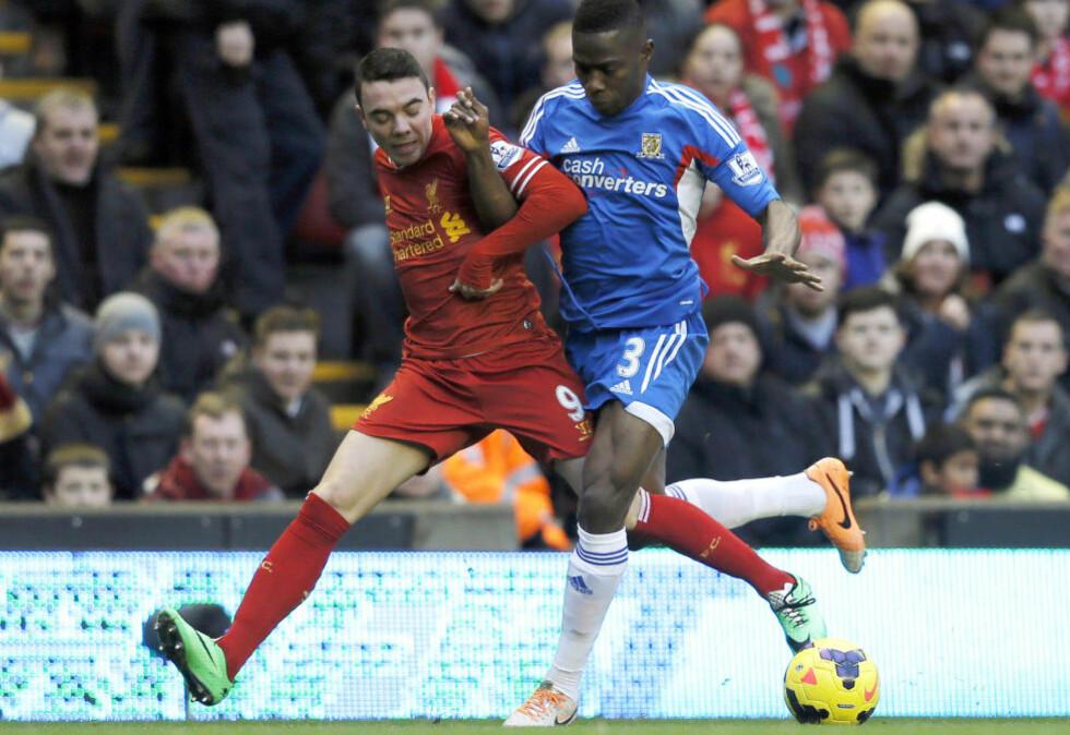 TIL SEVILLA: Liverpool har lånt ut spissen Iago Aspas til Sevilla. REUTERS/Phil Noble