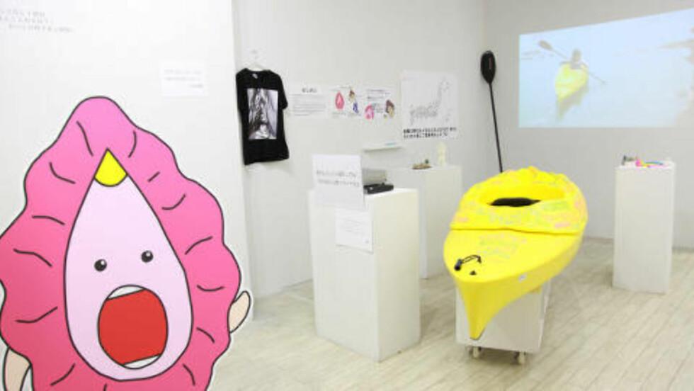 KAJAKK: Den 3D-printede kajakken basert på Igarashis vagina. Foto: Megumi Igarashi/Rokudenashiko